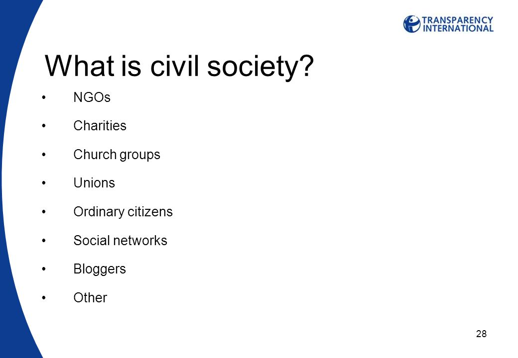 28 What is civil society.