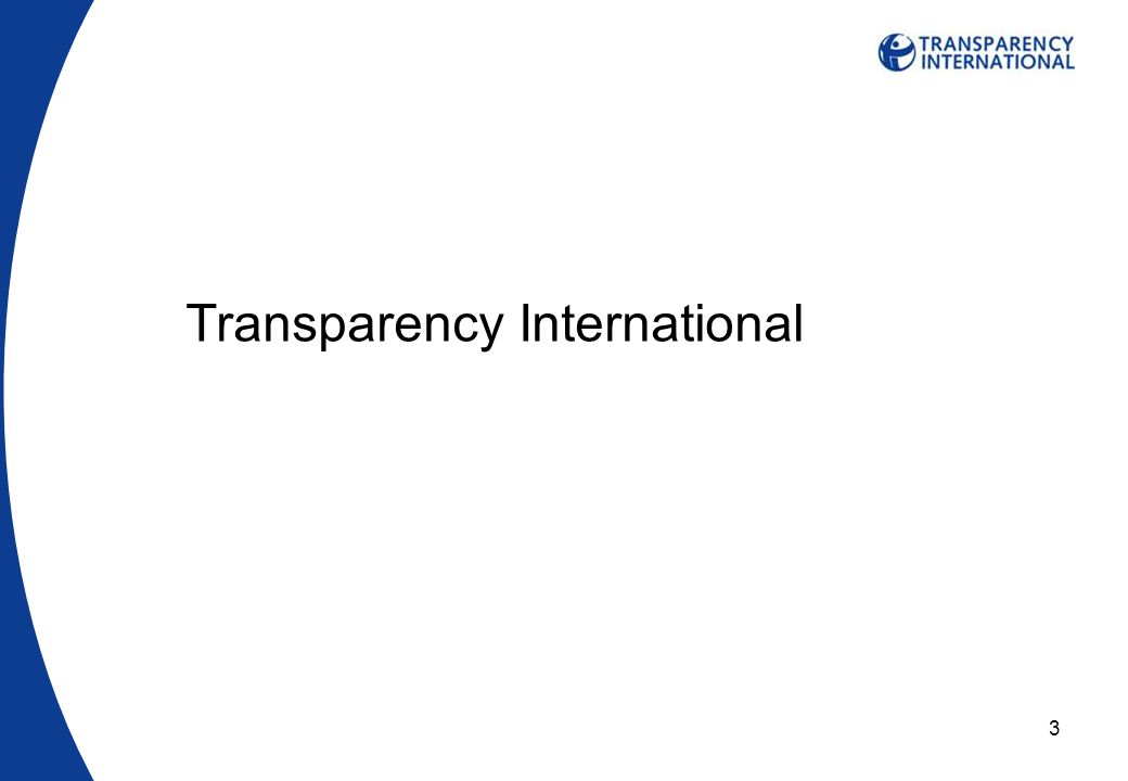 3 Transparency International