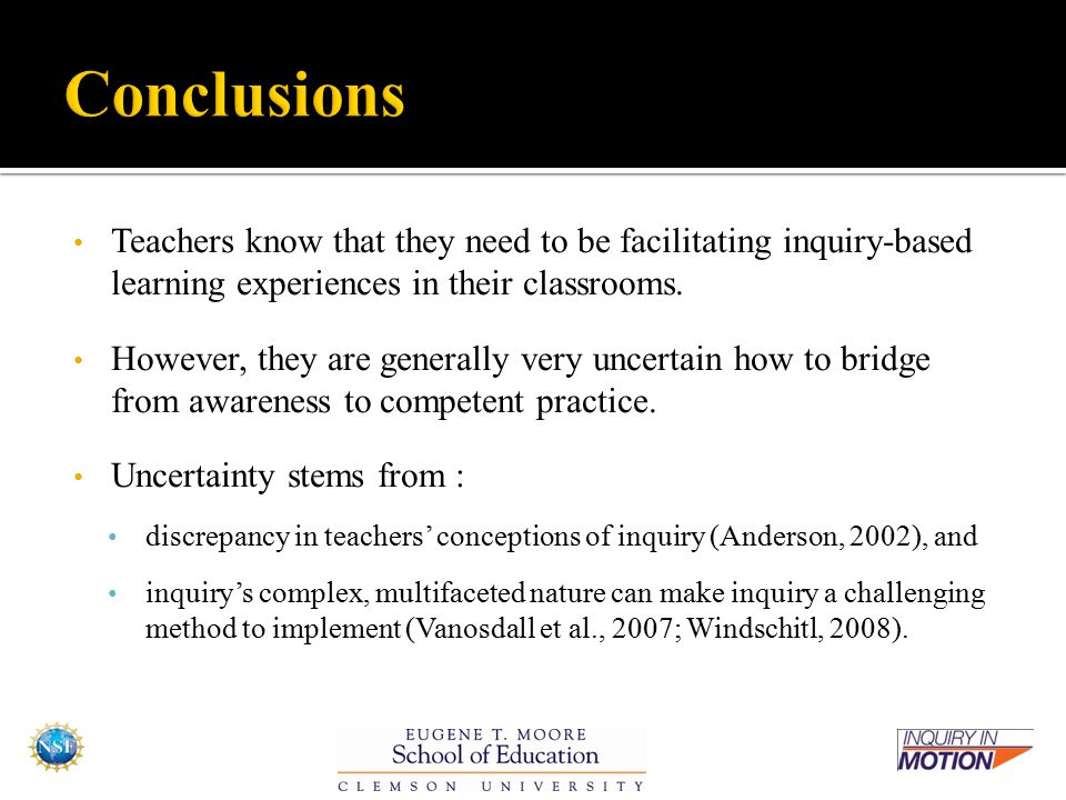 Teachers know that they need to be facilitating inquiry-based learning experiences in their classrooms.