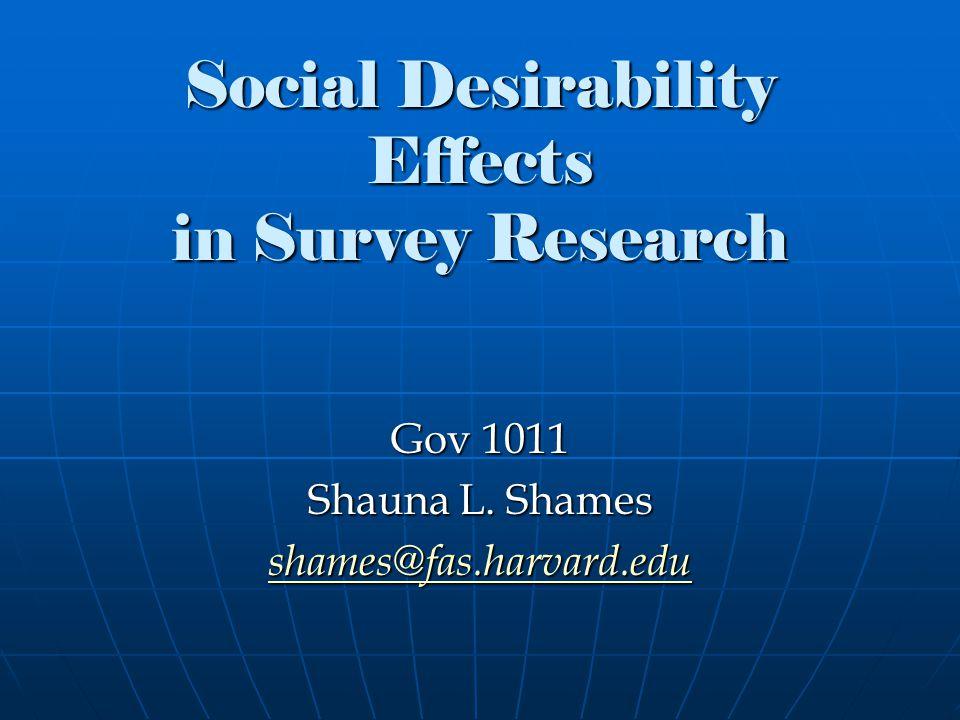 Social Desirability: Def.