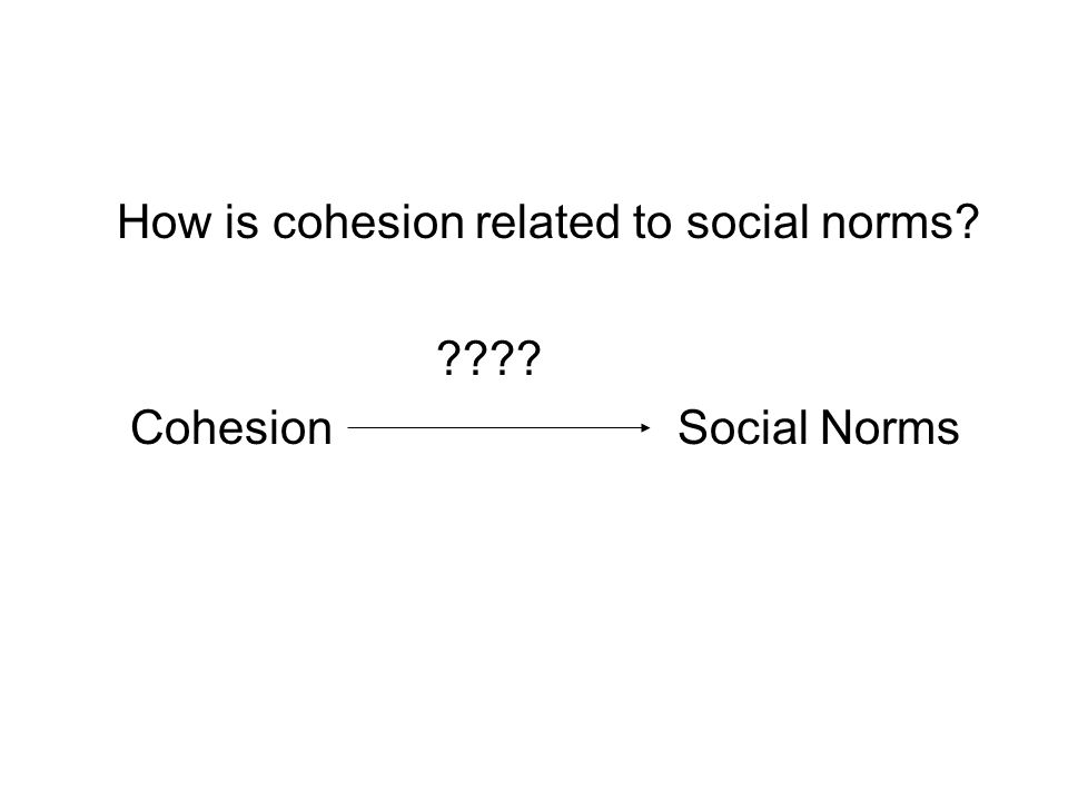 How is cohesion related to social norms Cohesion Social Norms