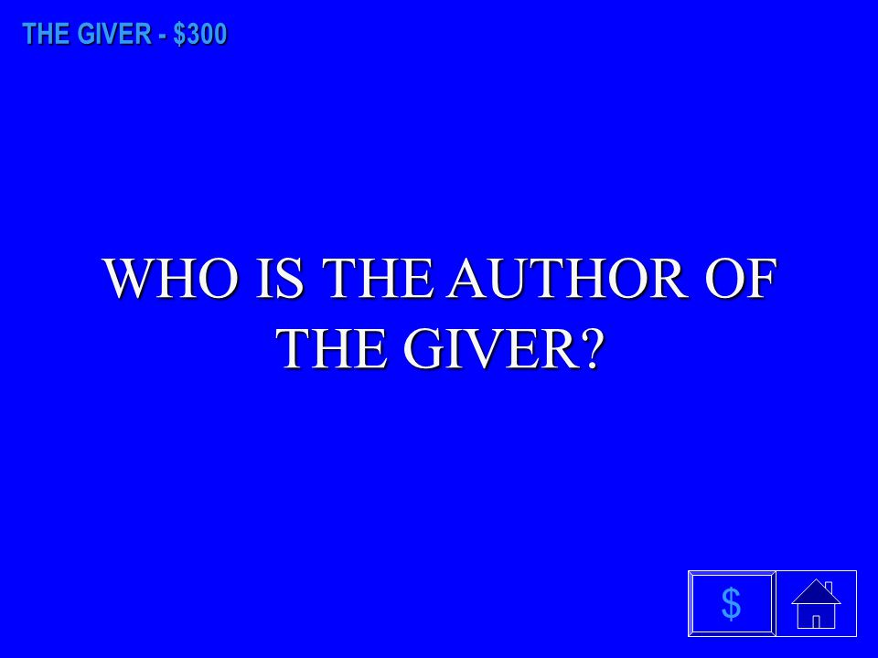 THE GIVER - $200 WHAT IS THE ABILITY TO SEE COLOR $