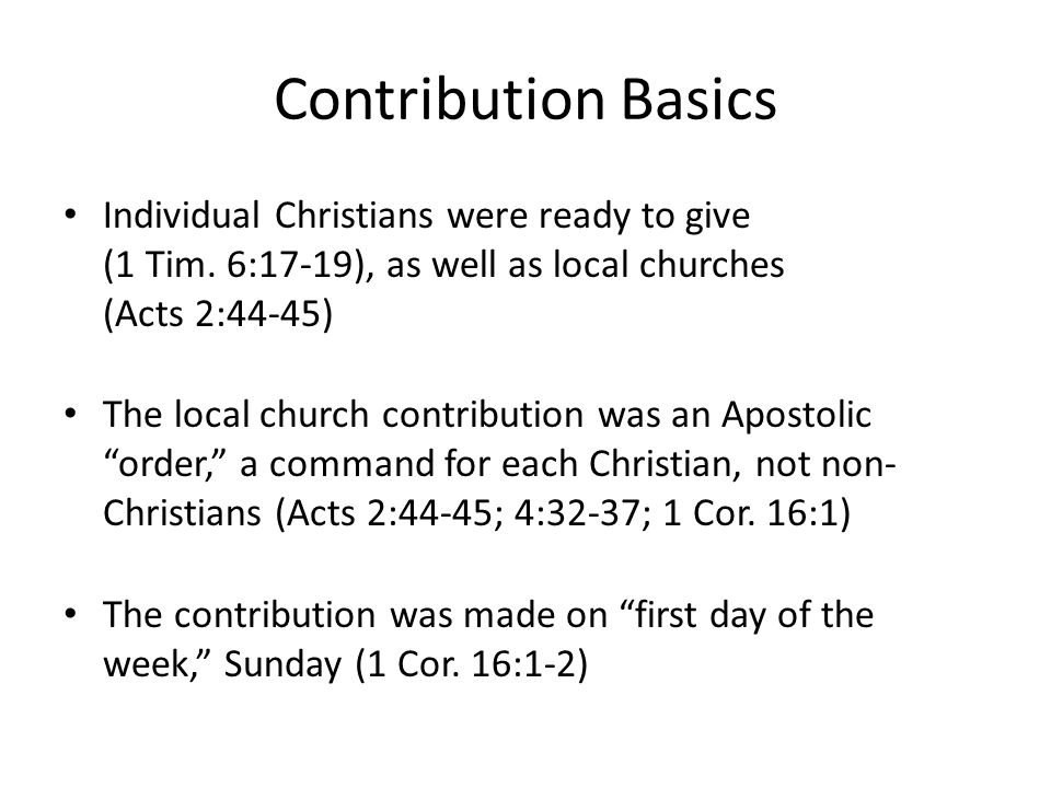 How Can We Improve Our Contribution.Use the example of Jesus' giving (2 Cor.