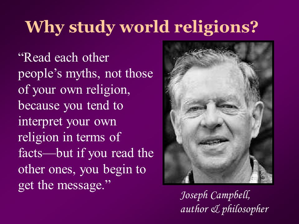 Why study world religions.