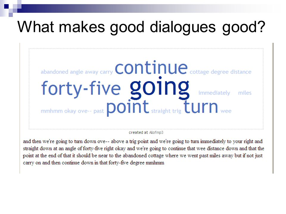 What makes good dialogues good