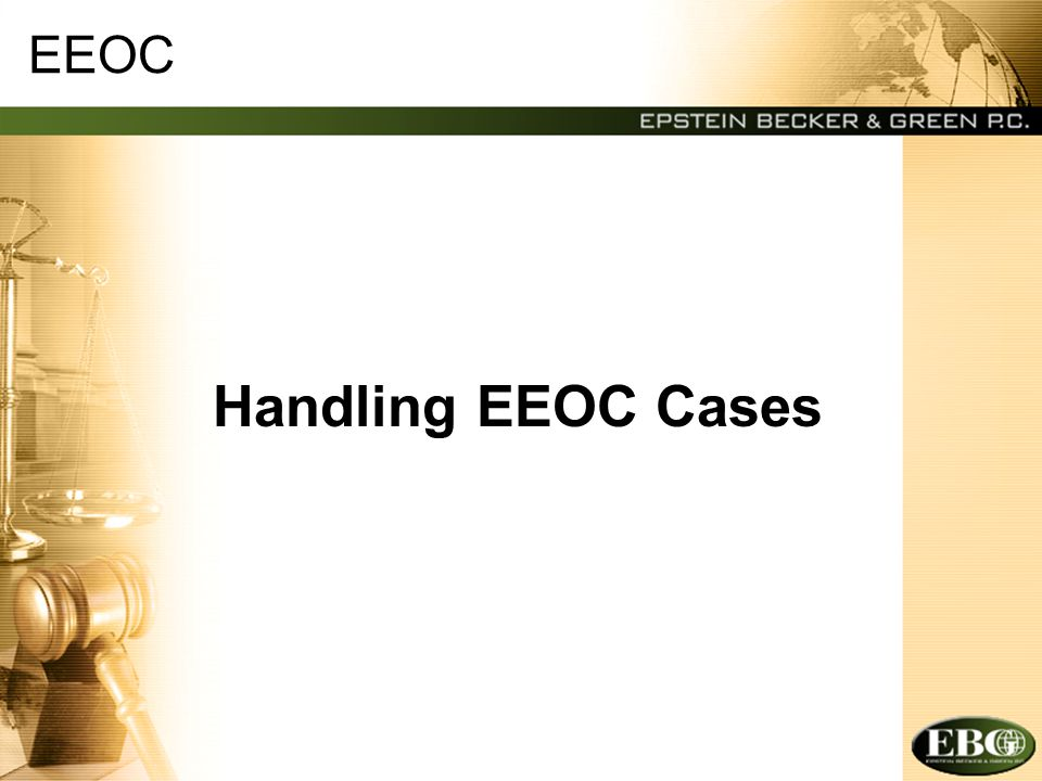 EEOC — Federal Laws Covered Title VII (race, color, national origin, gender and religion) –DCHRA (family responsibility, marital status, political affiliation, etc.) ADA (disability) ADEA (age) Individual Claims vs.
