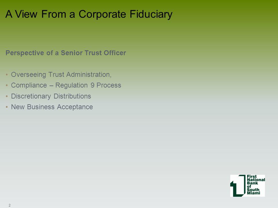 Where do the Problems Begin Regarding Trust Administration.