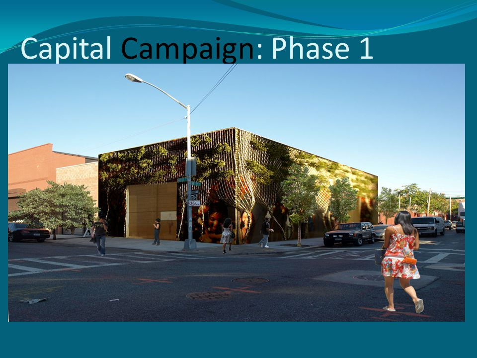 Capital Campaign: Phase 1 Expanded services Central location Increased impact