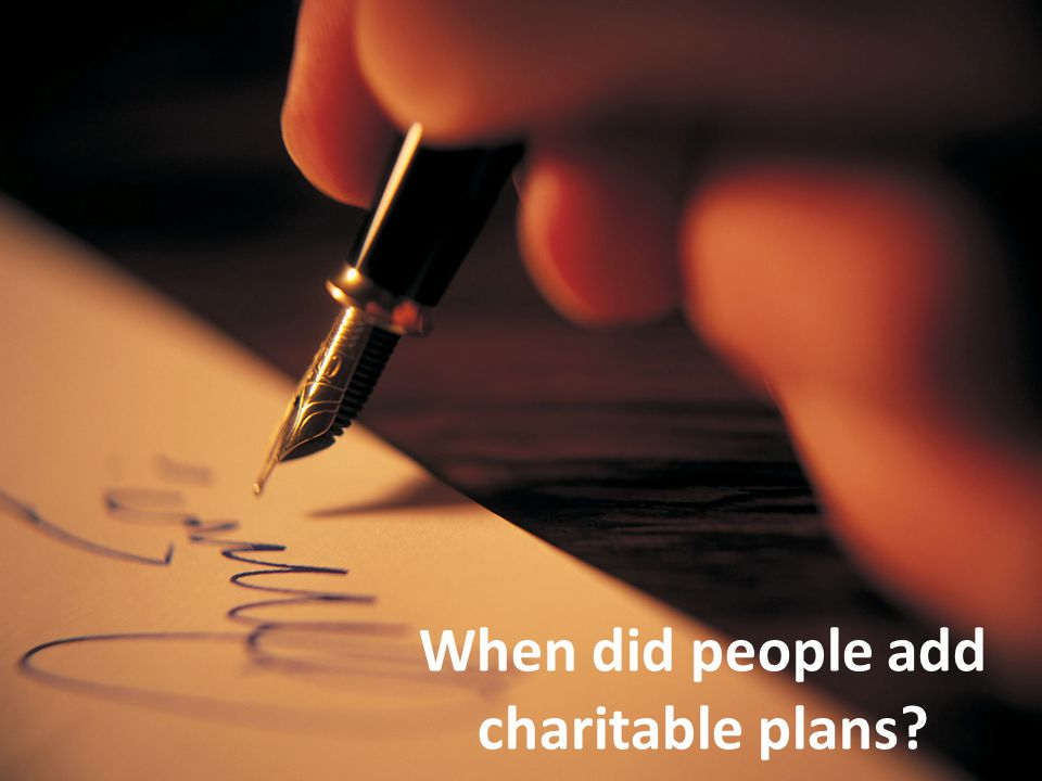 7/27/10 When did people add charitable plans