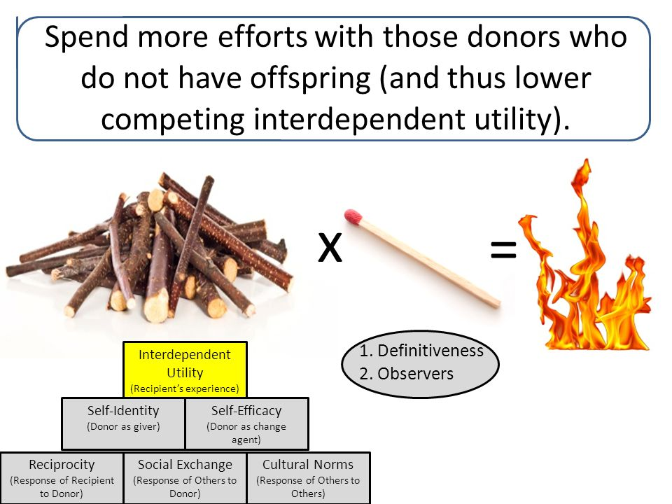 7/27/10 Reciprocity (Response of Recipient to Donor) Interdependent Utility (Recipient's experience) Self-Identity (Donor as giver) Social Exchange (Response of Others to Donor) Cultural Norms (Response of Others to Others) Self-Efficacy (Donor as change agent) 1.