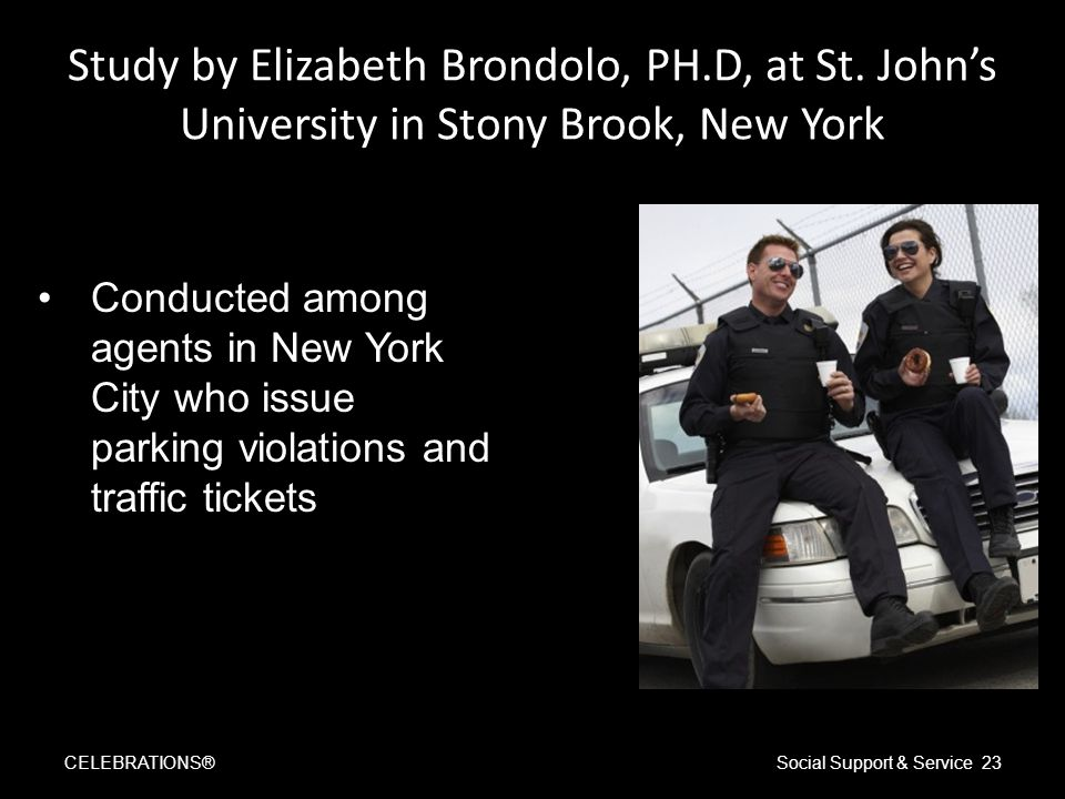 Study by Elizabeth Brondolo, PH.D, at St.