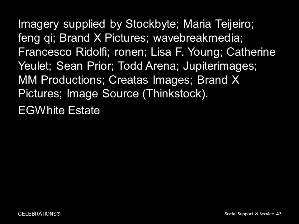 Imagery supplied by Stockbyte; Maria Teijeiro; feng qi; Brand X Pictures; wavebreakmedia; Francesco Ridolfi; ronen; Lisa F.