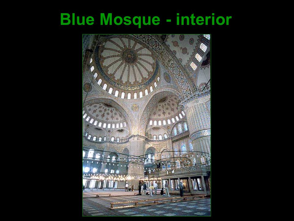 Blue Mosque - interior