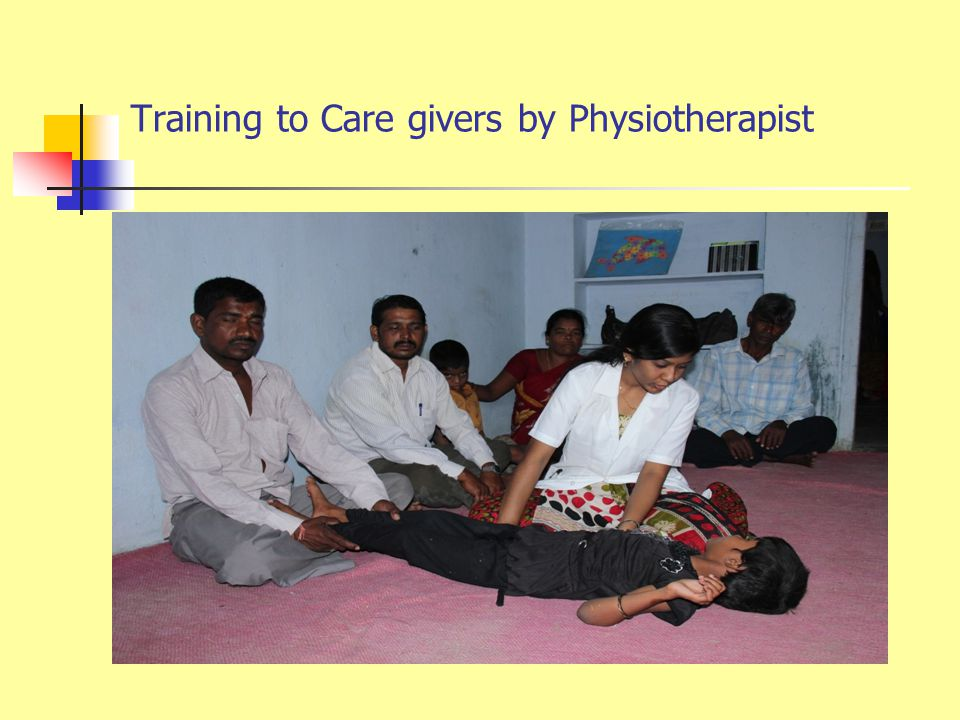Capacity Building to parents/care givers of CwDDs Regular training programmes (once in 3 months) is being organized for the parents and care givers.