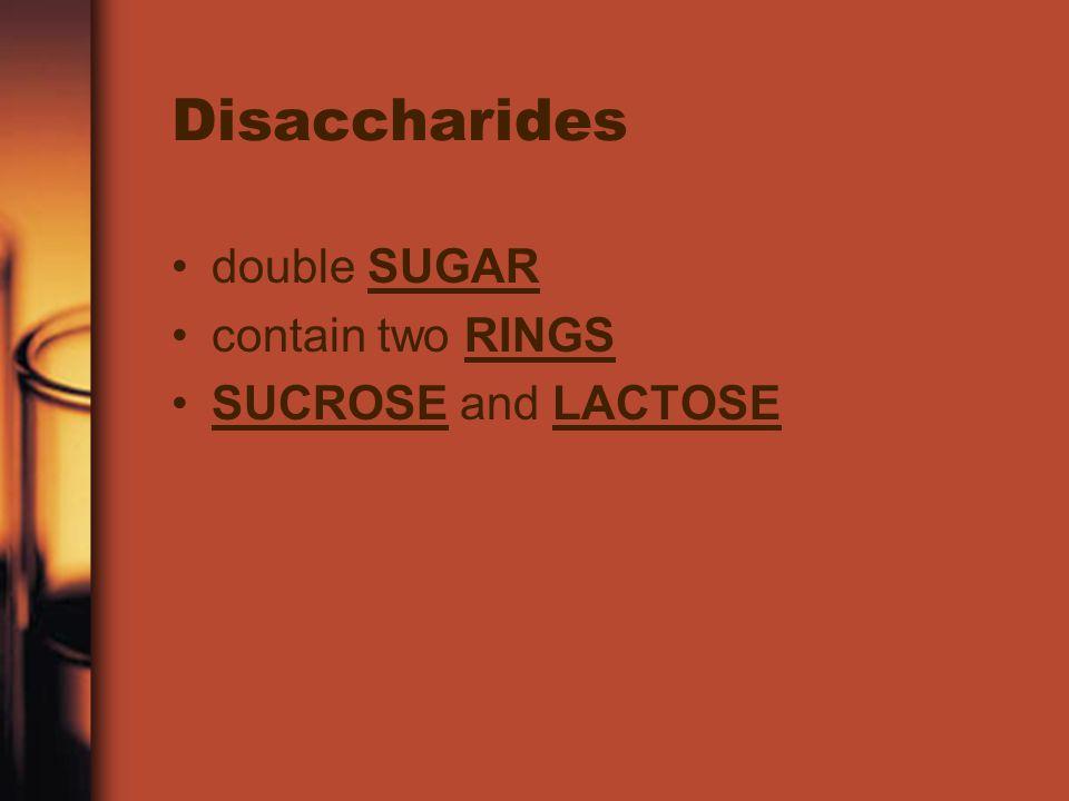 Monosaccharides simple SUGAR contain C 6 H 12 O 6 GLUCOSE, FRUCTOSE, AND GALACTOSE