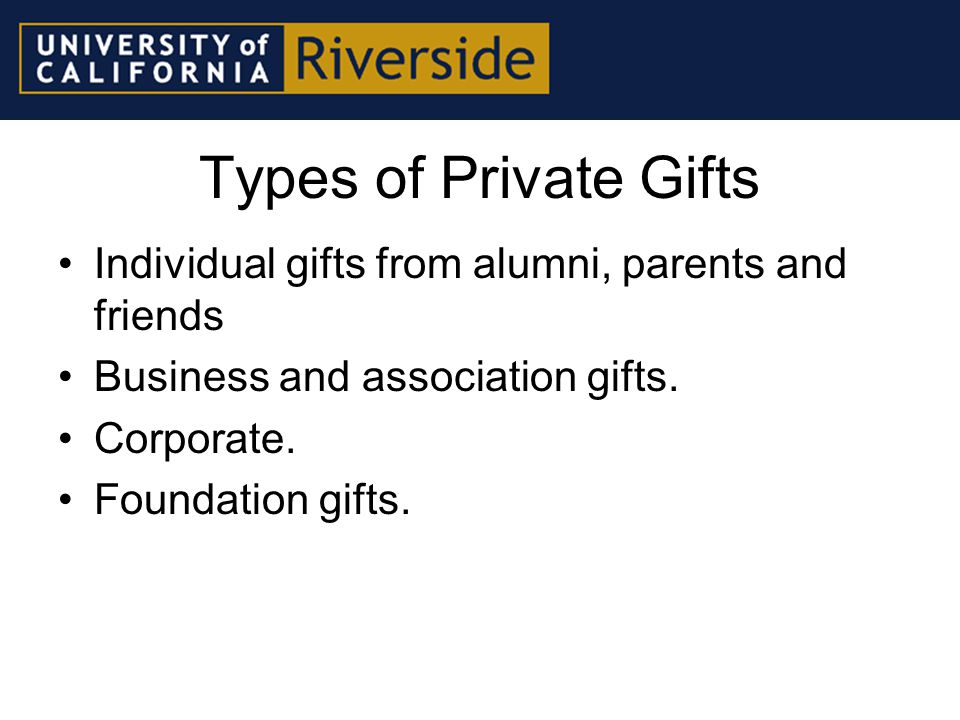 Methods of Giving Planned gifts (trusts, bequests, life income agreements).