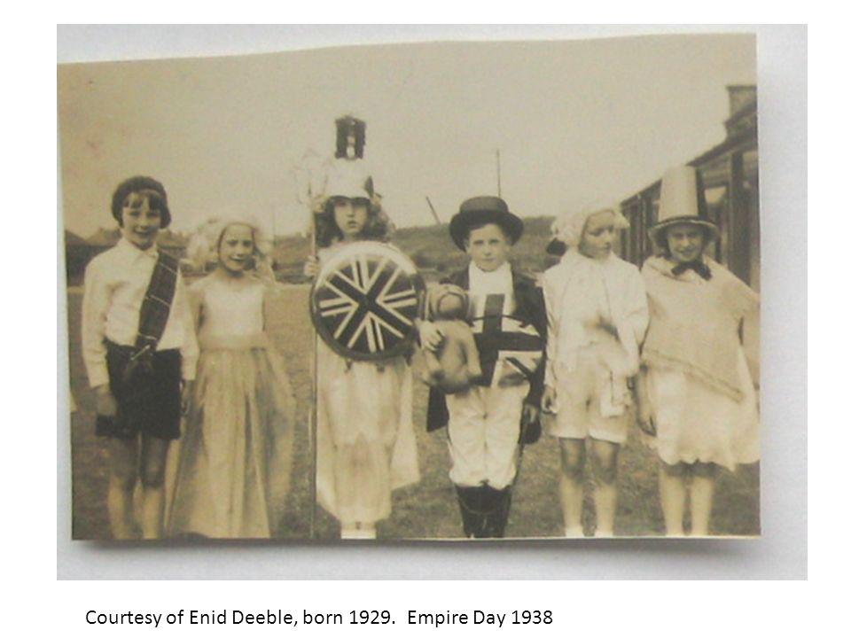 Courtesy of Enid Deeble, born 1929. Empire Day 1938