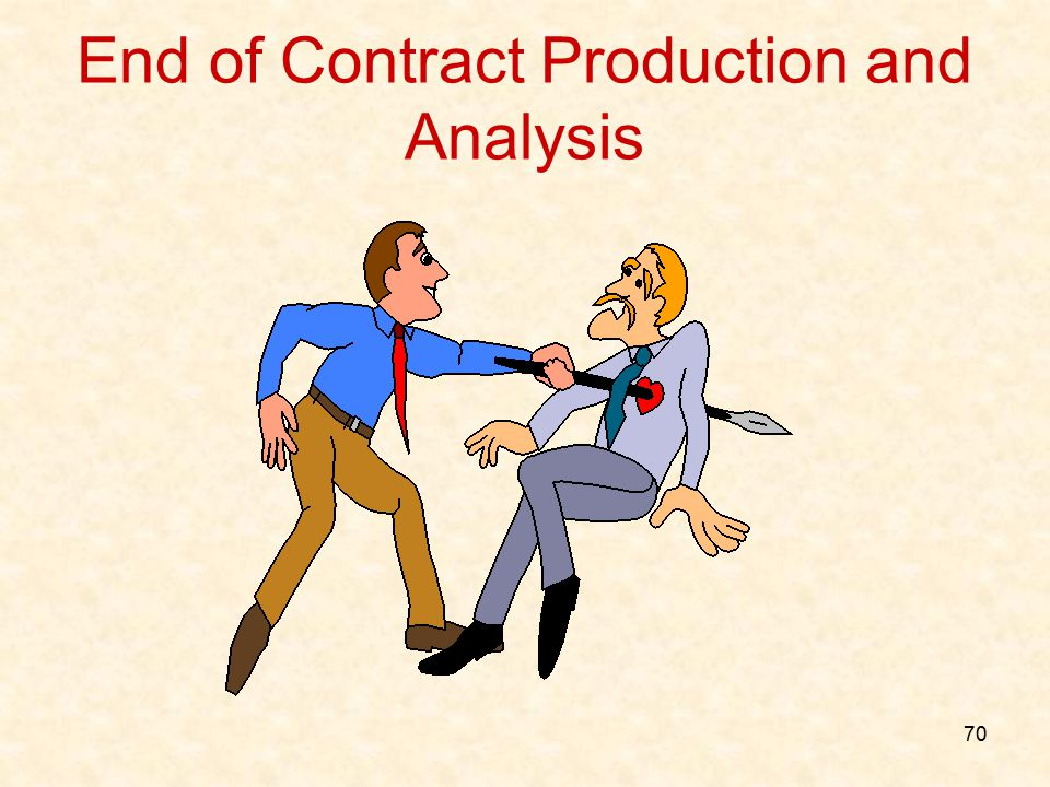 70 End of Contract Production and Analysis