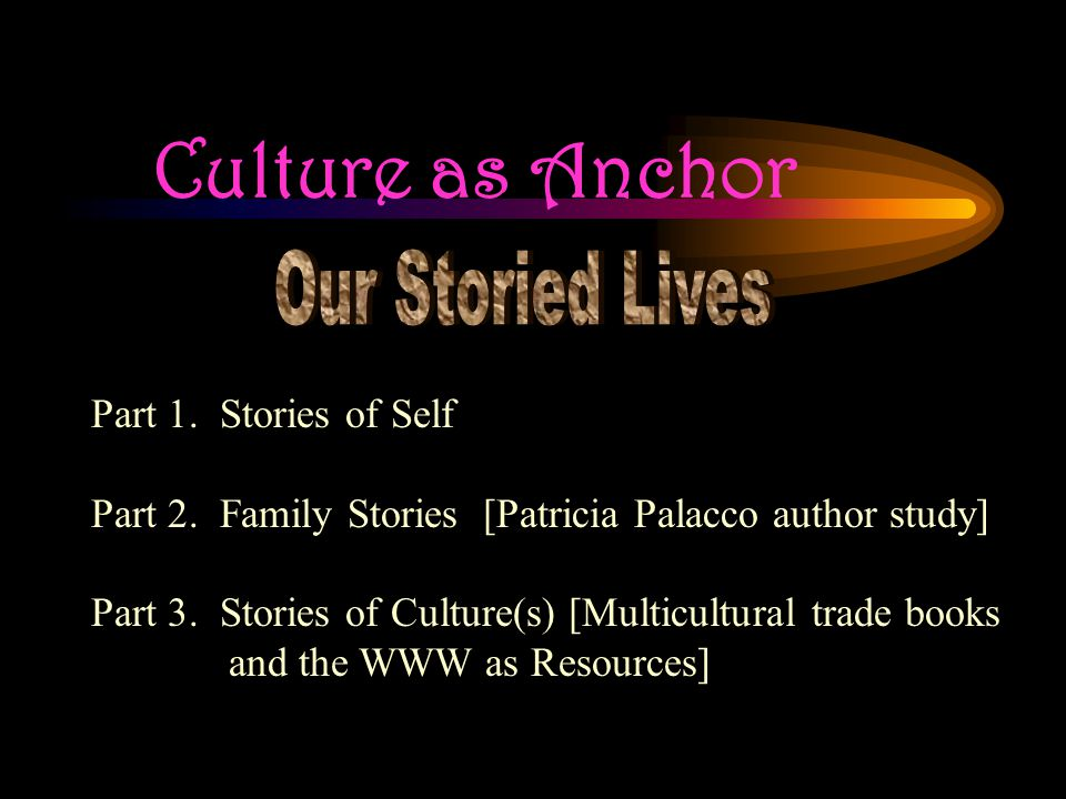 Culture as Anchor Part 1. Stories of Self Part 2.