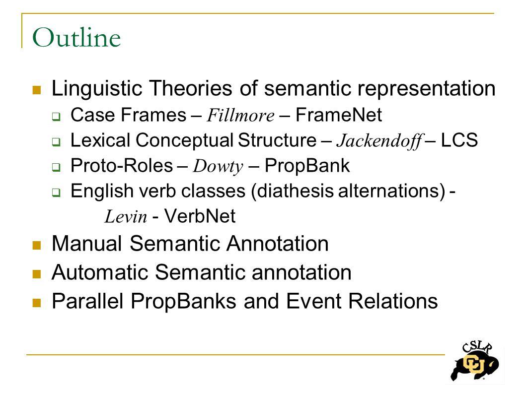 Symmetric Predicates: Generalizing via Proto-Roles Conjoined predicate subject has Proto-Agent entailments which two-place predicate relation lacks (i.e.