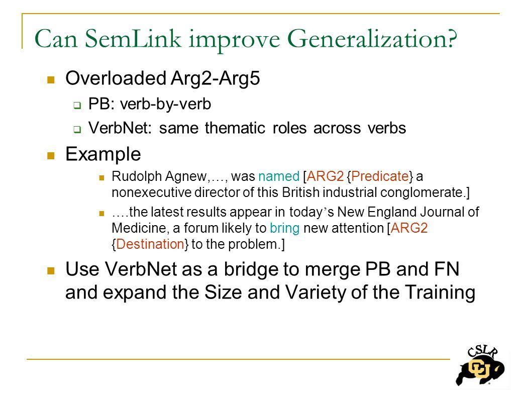 Can SemLink improve Generalization.