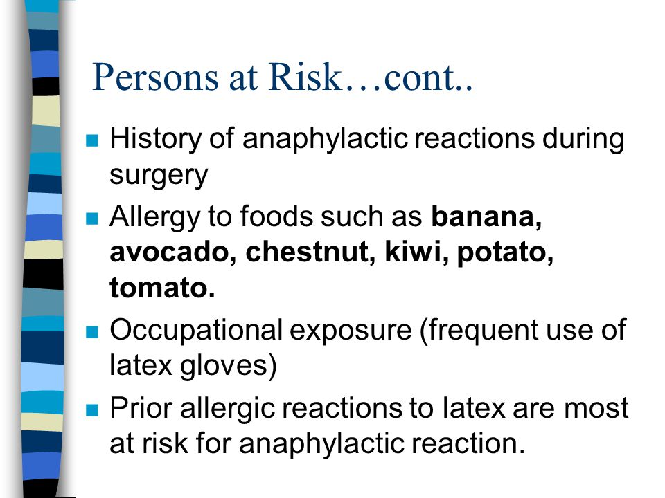 Persons at Risk…cont..