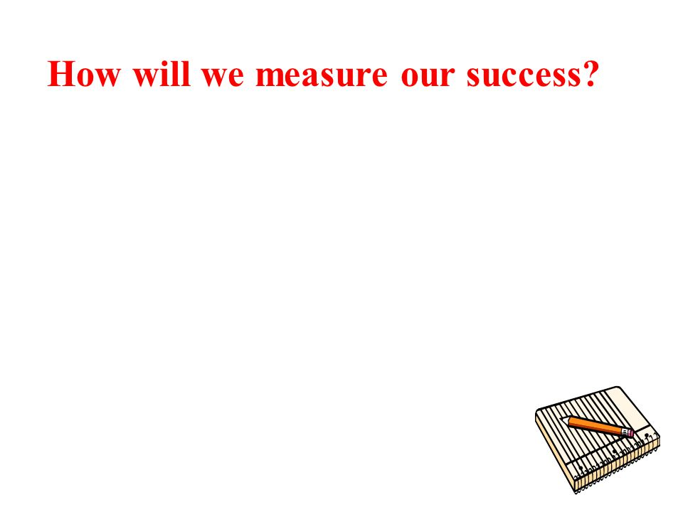 How will we measure our success
