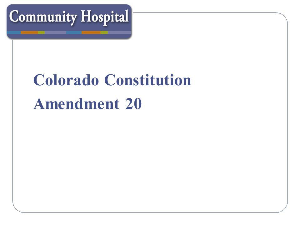Medical Marijuana Registry Program Amendment 20 was adopted in the November 2000 general election.
