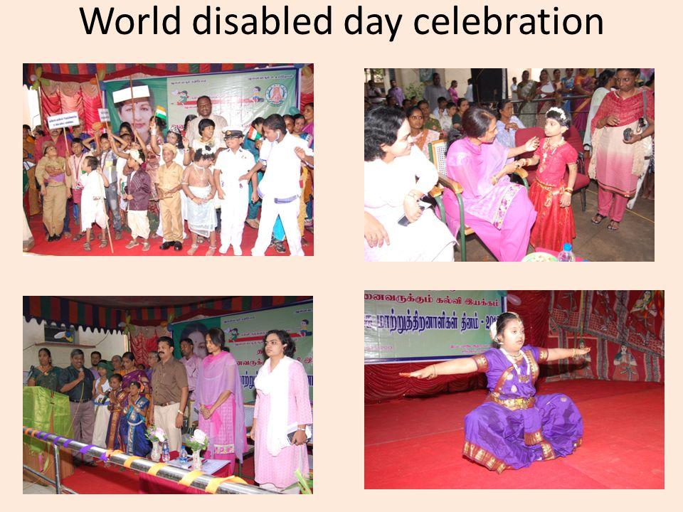 World disabled day celebration