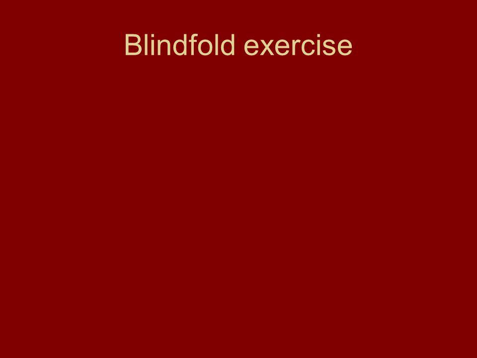 Blindfold exercise