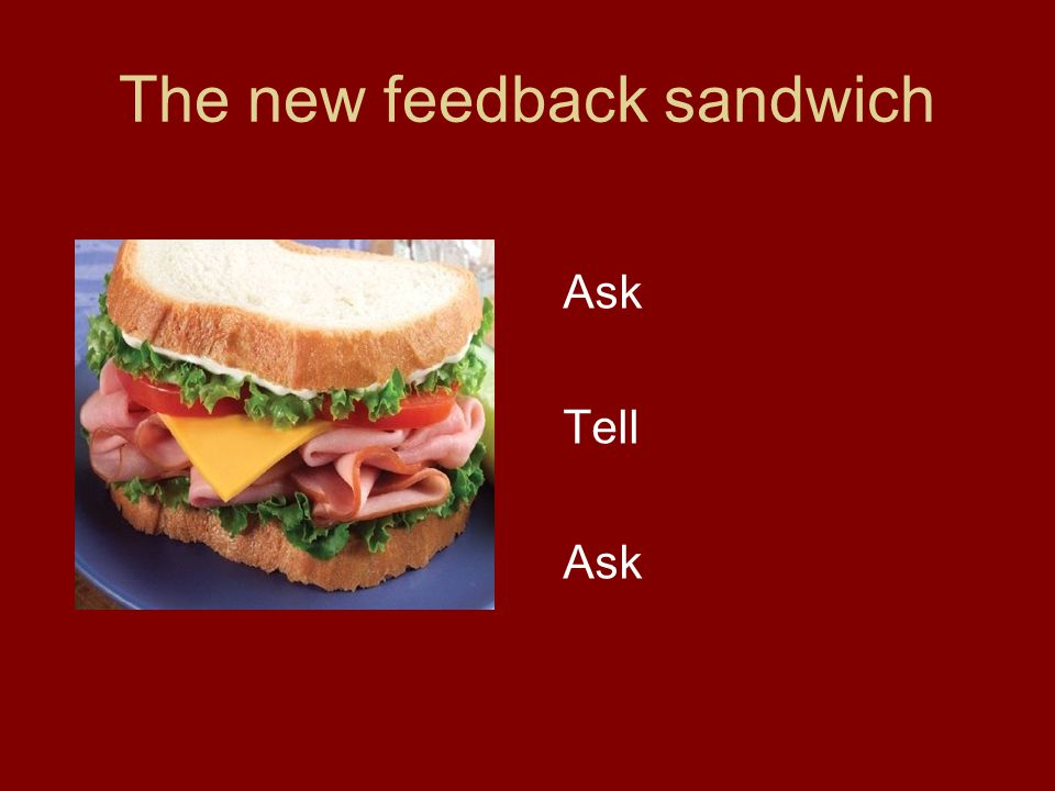 The new feedback sandwich Ask Tell Ask