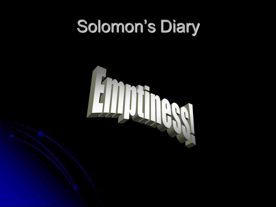 Solomon's Diary
