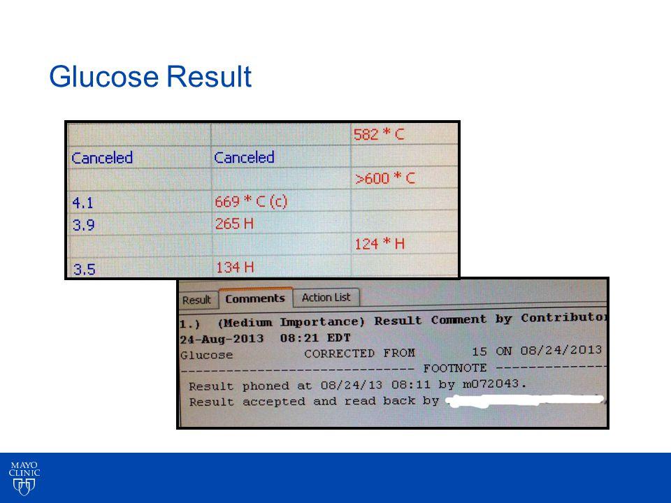 Glucose Result