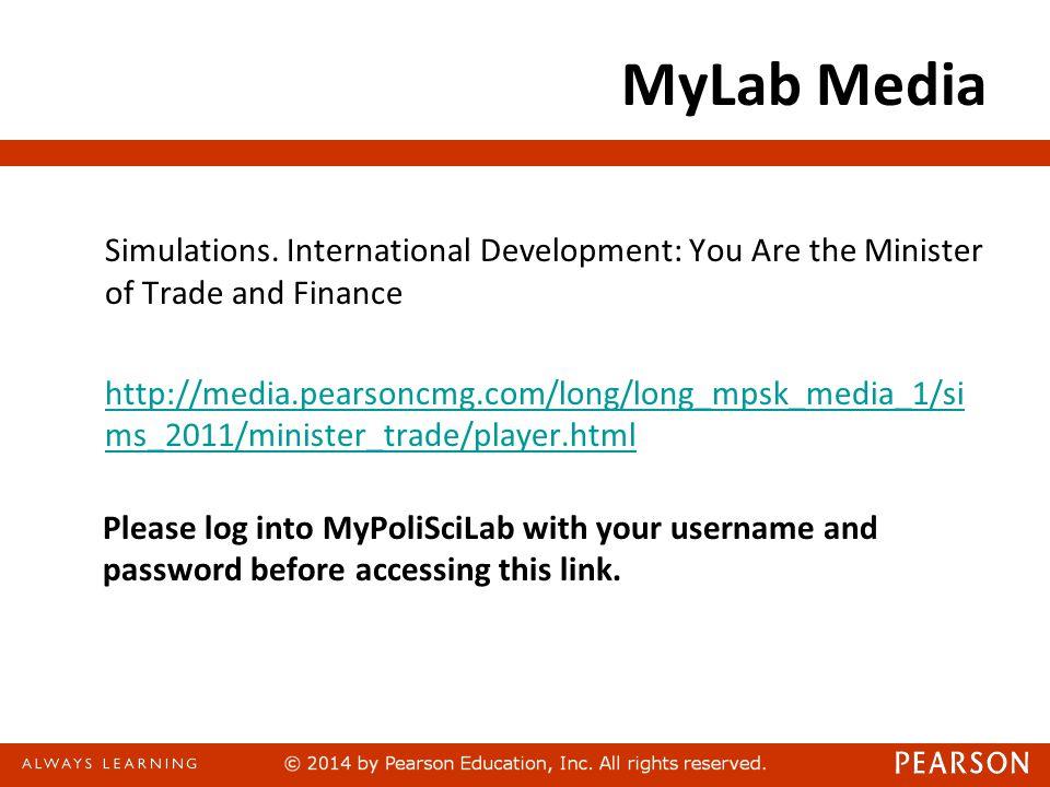 MyLab Media Simulations.