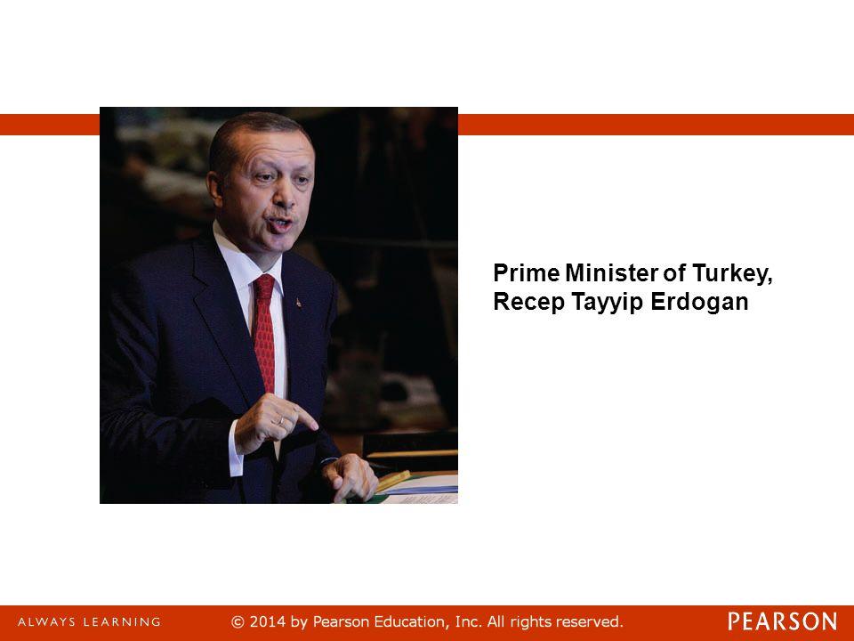 Prime Minister of Turkey, Recep Tayyip Erdogan