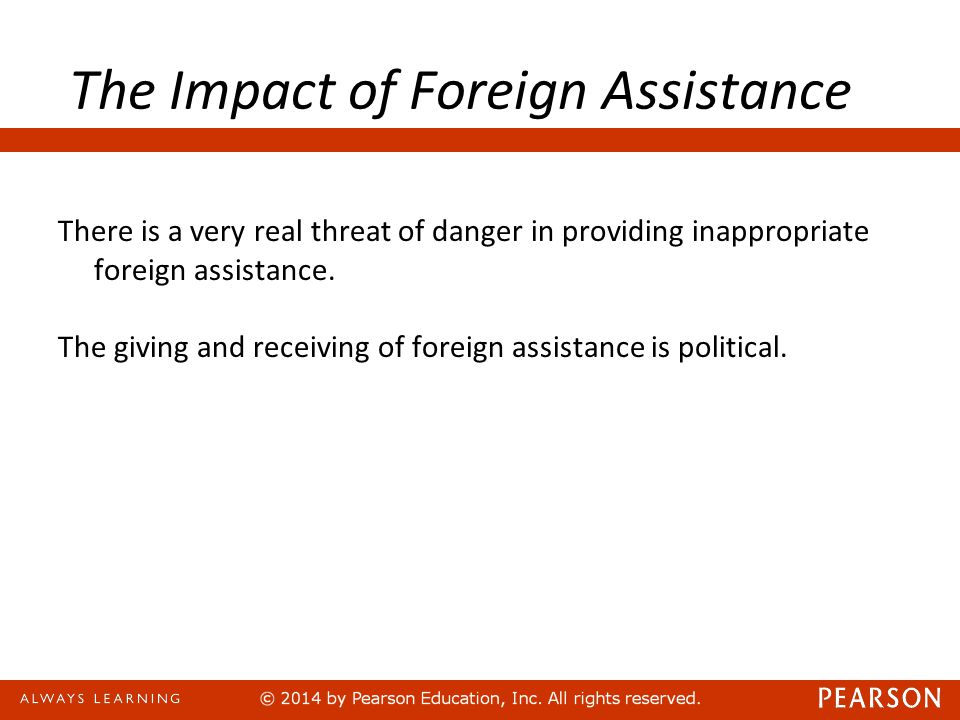 Sometimes foreign assistance contributes goods to developing economies with little understanding of local needs or long-term strategies.