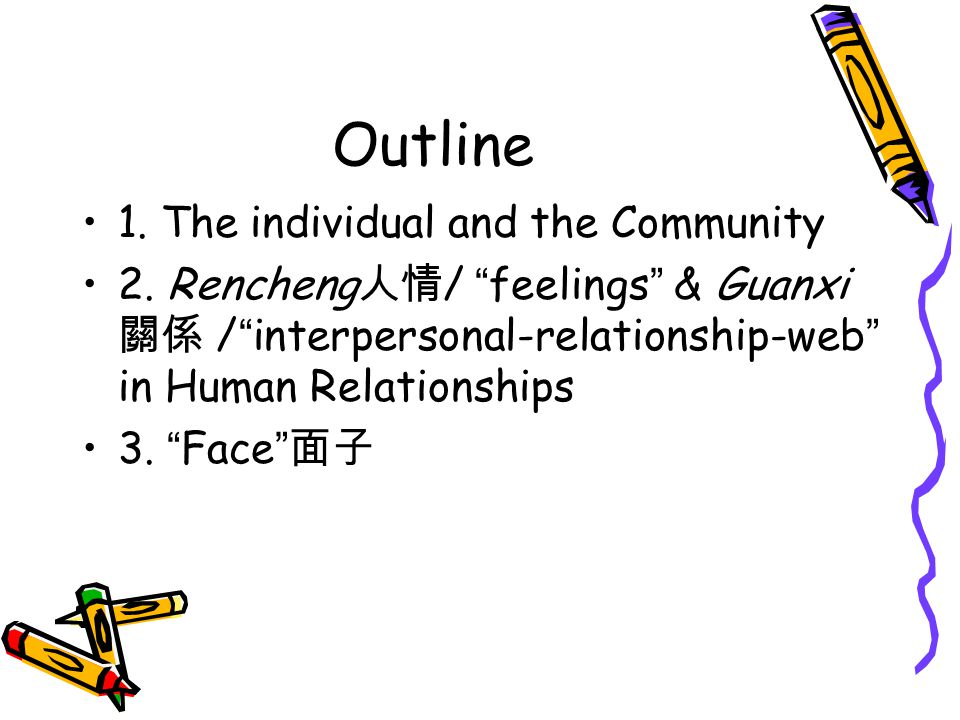1.The Individual & the Community Confucianism: a social order in this world.