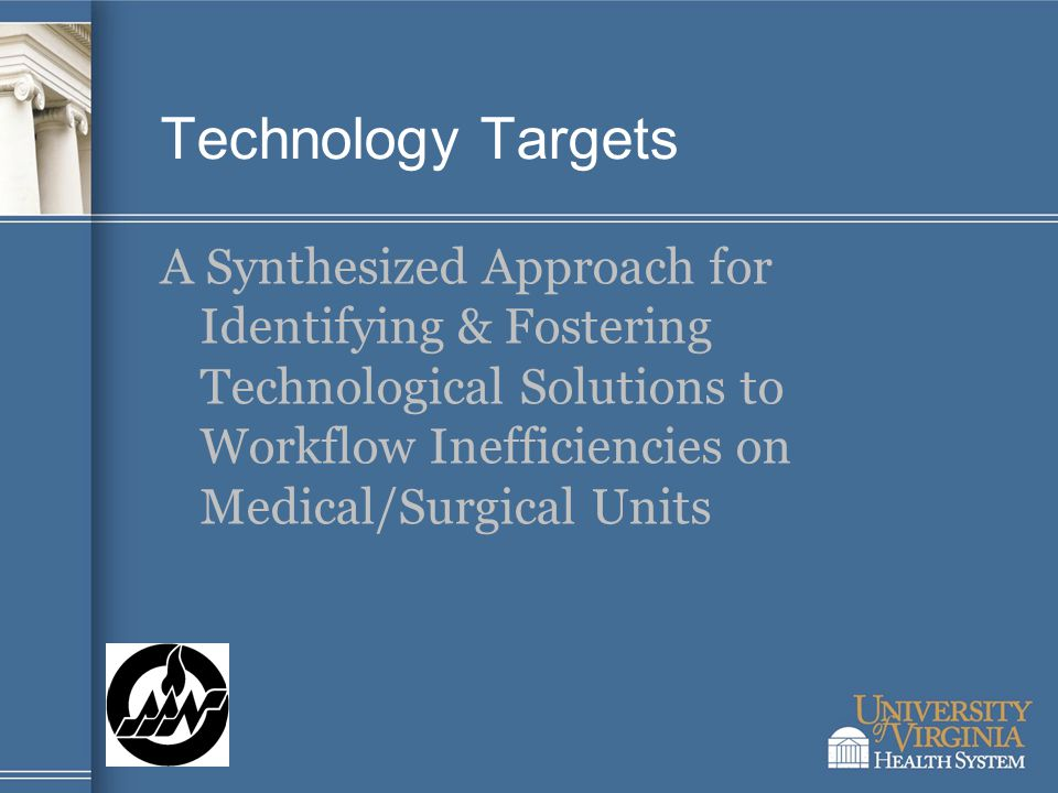 Technology Targets A Synthesized Approach for Identifying & Fostering Technological Solutions to Workflow Inefficiencies on Medical/Surgical Units