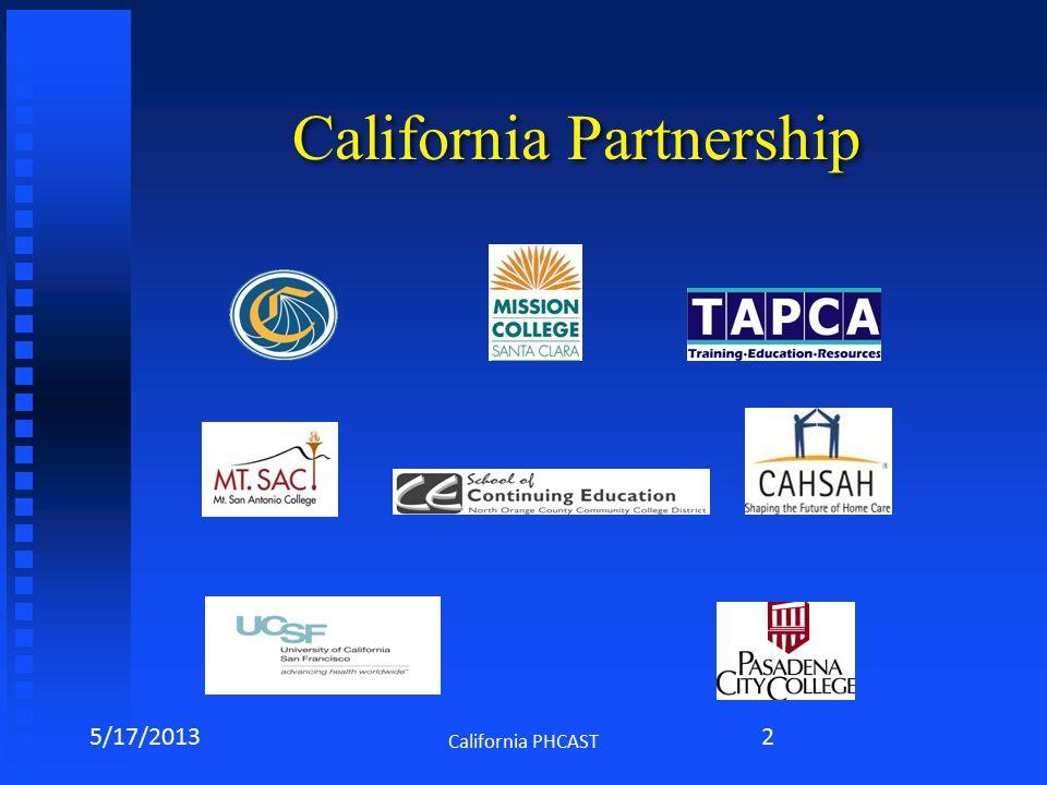 California Partnership 5/17/2013 California PHCAST 2