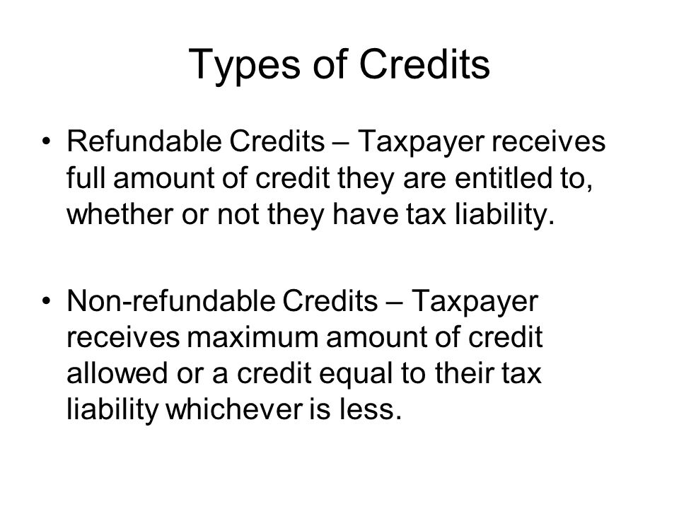 Earned Income Credit Refundable Credit for working taxpayers with Earned Income and Adjusted Gross Income (AGI) of less than: –$35,263 ($37,263 married filing jointly) with 2 or more qualifying children –$31,030 ($33,030 married filing jointly) with one qualifying child, or, –$11,750 ($13,750 married filing jointly) with no qualifying children Maximum Credit (for tax year 2005) for –2 or more qualifying children $4,400 –1 qualifying child $2,662 –No children $399