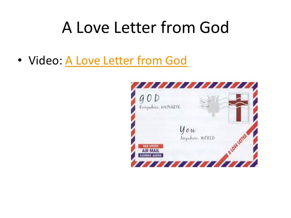 A Love Letter from God Video: A Love Letter from GodA Love Letter from God
