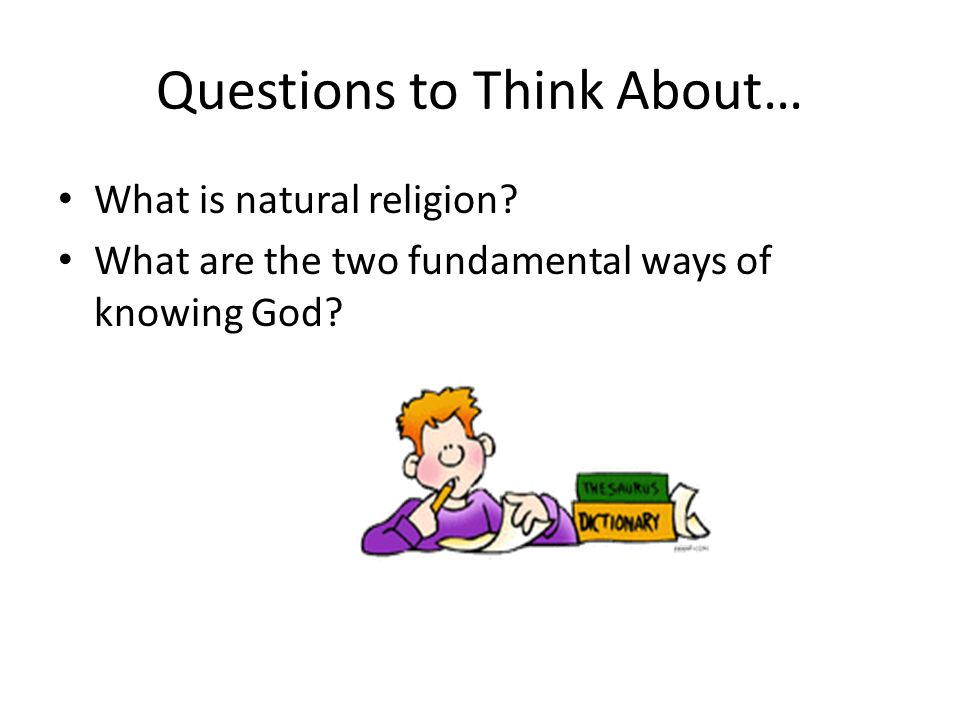 What is natural religion.