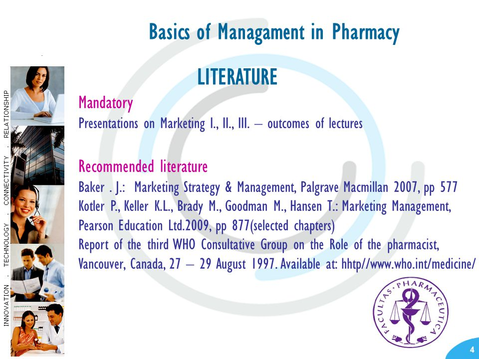 - 4 LITERATURE Mandatory Presentations on Marketing I., II., III.