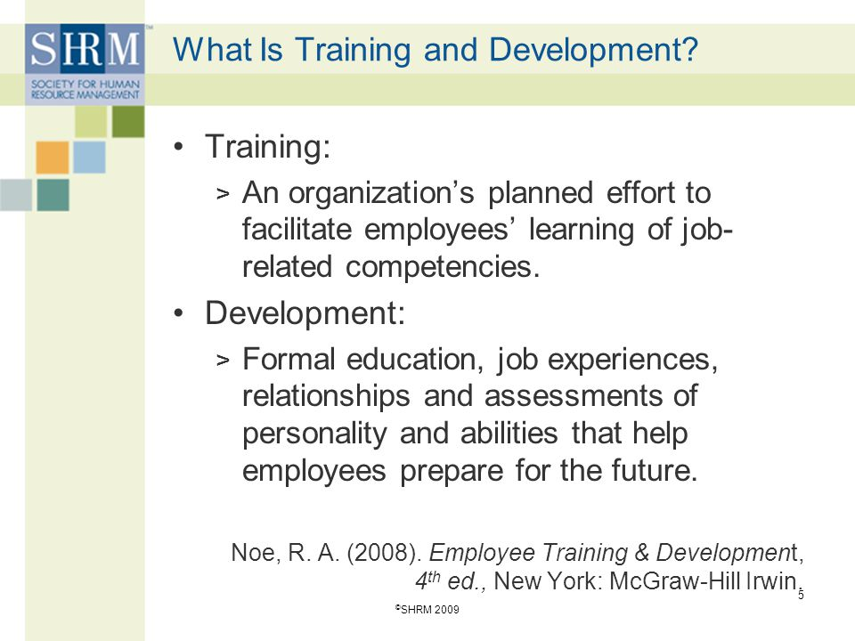 What Is Training and Development.
