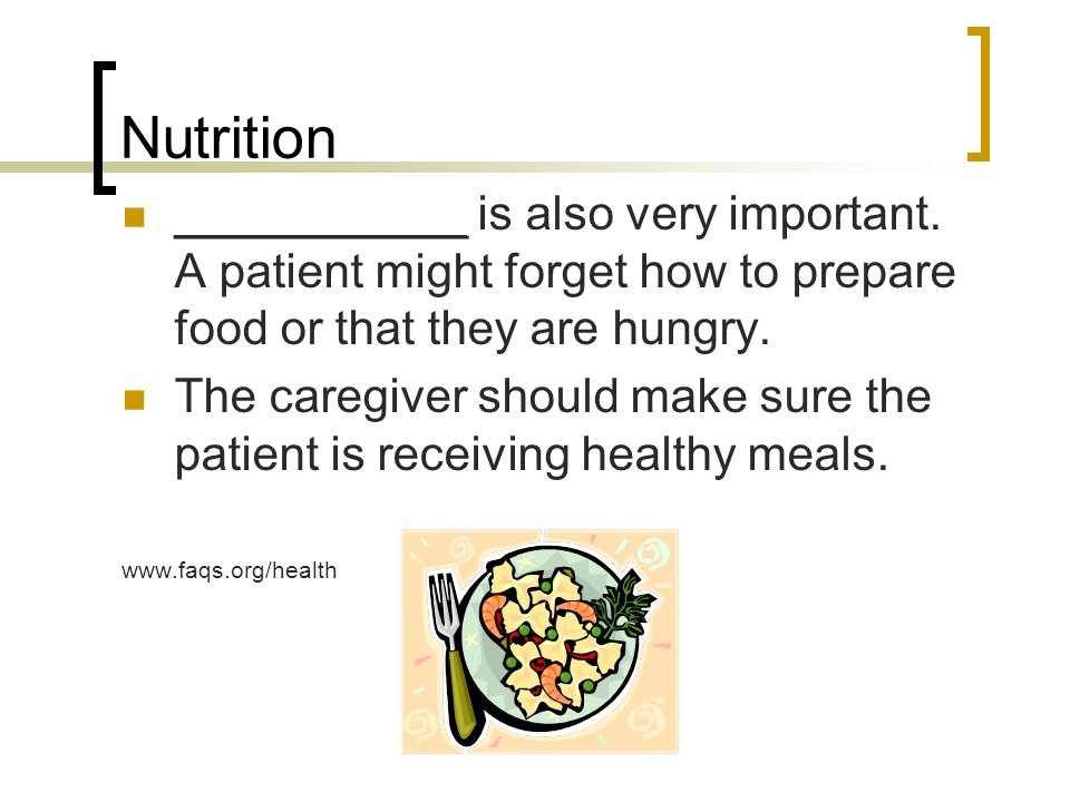 Nutrition ___________ is also very important.