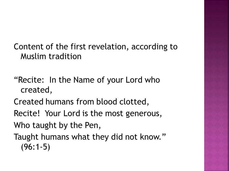 On the modality of revelation God speaks to no human Except by wa ḥ y (inspiration, revelation) Or from behind a veil Or by sending a messenger who reveals what God wills by His permission.