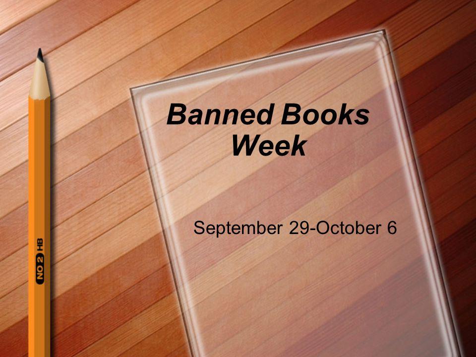 Banned Books Week September 29-October 6