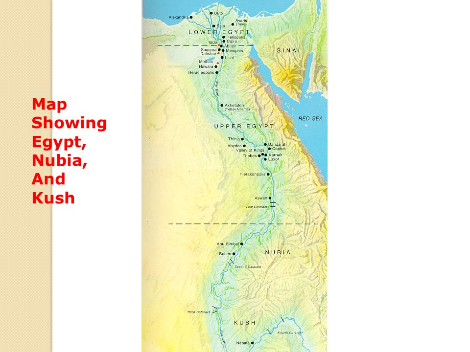 Map Showing Egypt, Nubia, And Kush