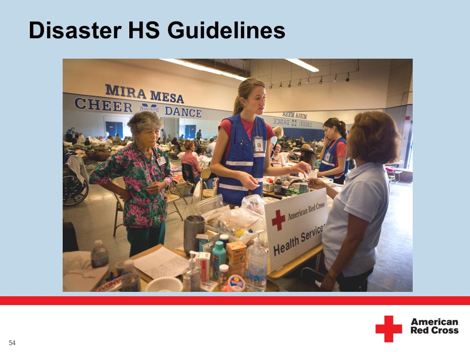Disaster HS Guidelines 54