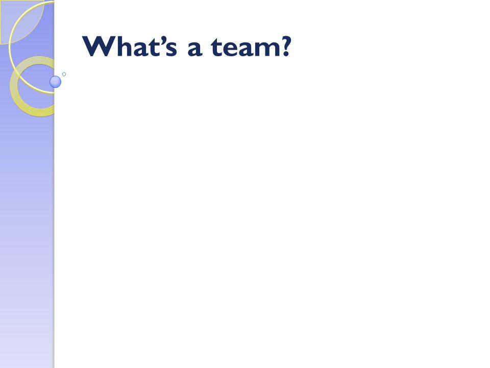 What's a team